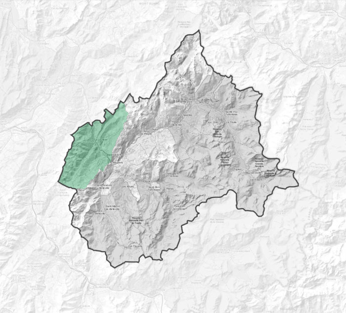 Carte des vallées d'Aigueblanche