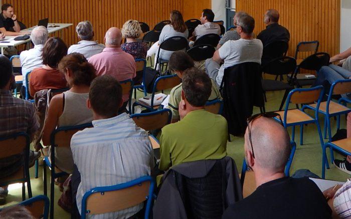 Rencontre des acteurs de la gestion de l'eau à Moutiers