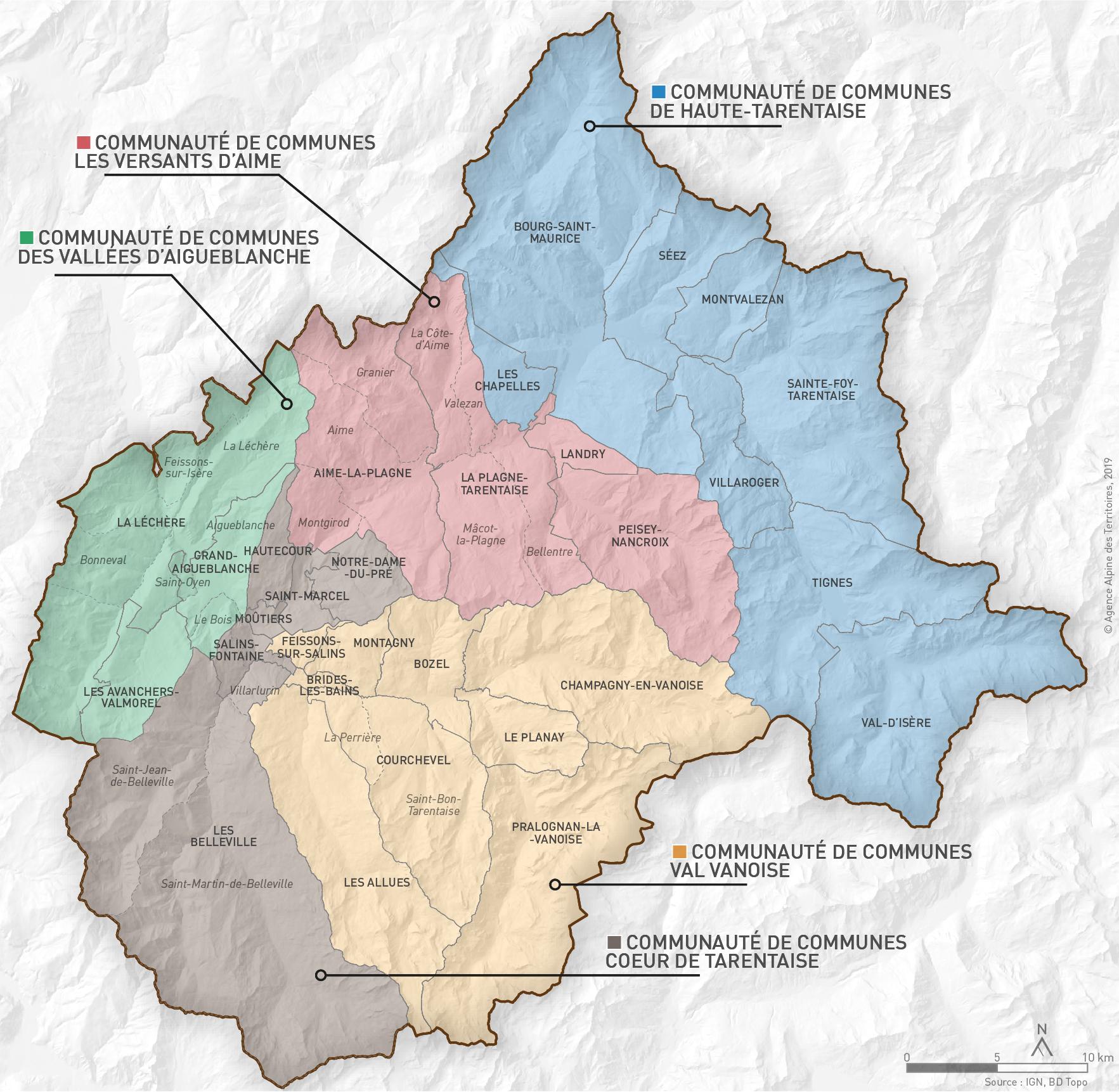 vallée de la tarentaise carte Le territoire   Assemblée du pays de Tarentaise Vanoise